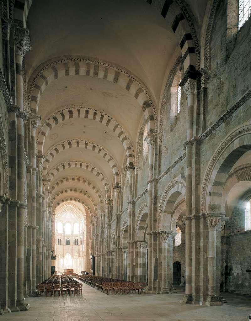 Di sainte-madeleine a vézelay inizio del xii secolo-1215 ca, interno