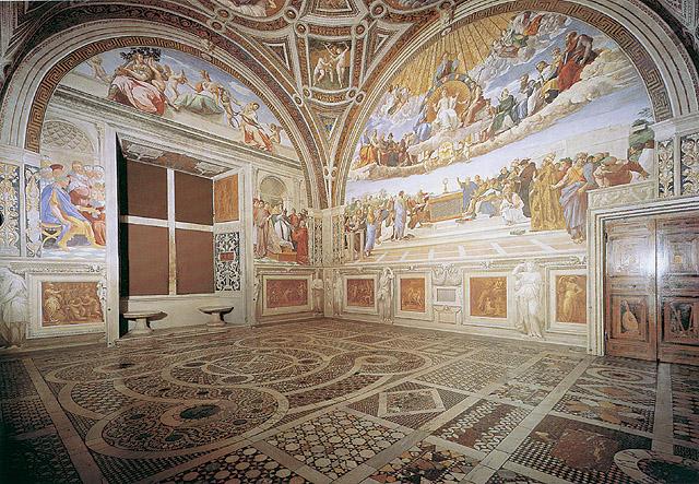 Stanze vaticane quali stanze ha affrescato raffaello in for Decorazione stanze vaticane