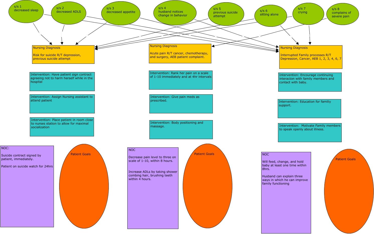 Concept Map For Nursing Care Plan.Kim Amber Joseph Charissa Christine Nursing Dx