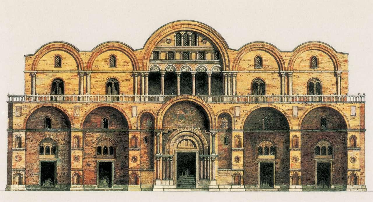 La chiesa romanica quali sono gli aspetti storici for Esterno basilica di san marco