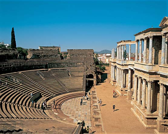 Baños Romanos Merida:Teatro Romano De Merida