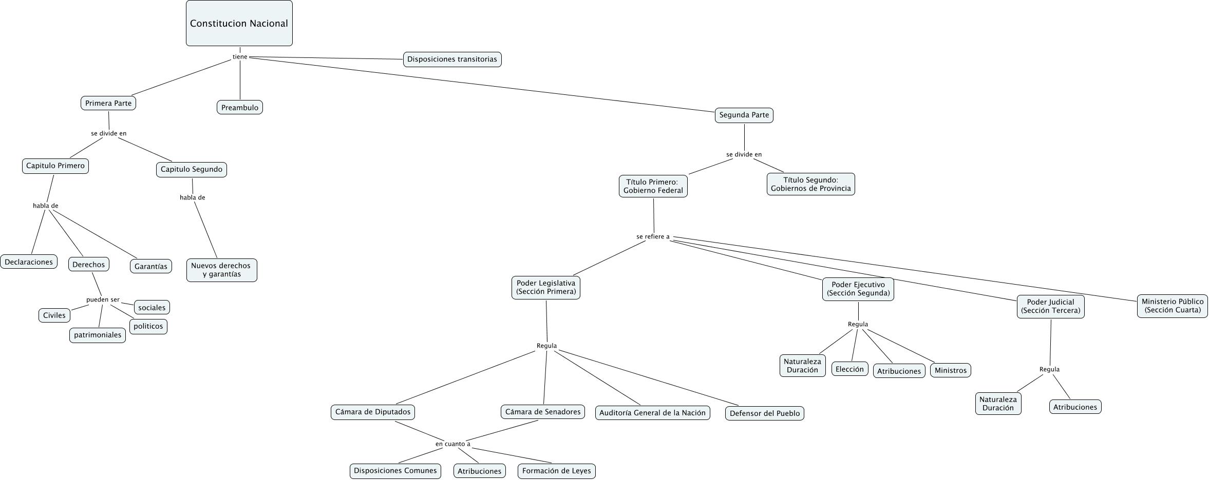 Estructura Interna Constitución Nacional Cómo Es La