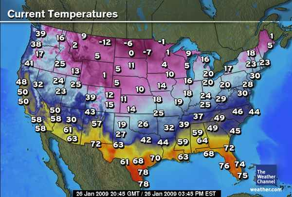 Weather Tools - Weather temperature map us