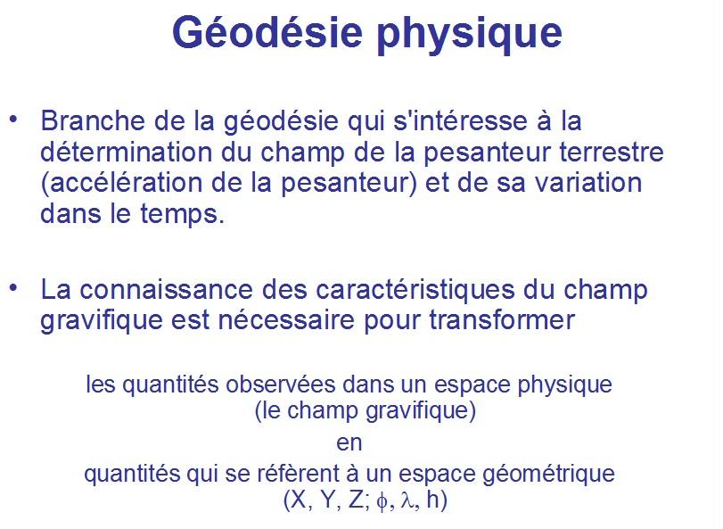 geodesie definition